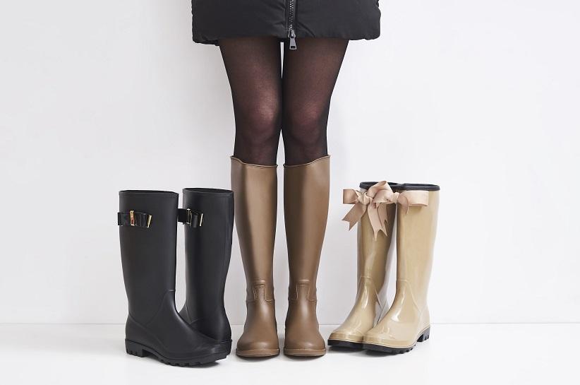Вибери стильні гумові чоботи! Оригінальні стилізації з гумовими чобітьми!